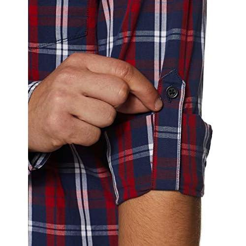 410DQ4QVV5L. SS500  - Amazon Brand - Symbol Men's Checkered Regular Fit Casual Shirt