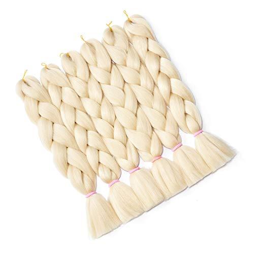 Hairingrid Jumbo Braid Hair Ombre Extension 24inch 6pcs/Lot 100g/pc Synthetic Hair Twist Braiding Hair Crochet Hair for African American Women (R76X613#)