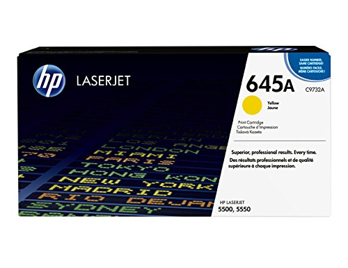 HP 645A (C9732A) Yellow Toner Cartridge for HP Color LaserJet 5500 5550 ()