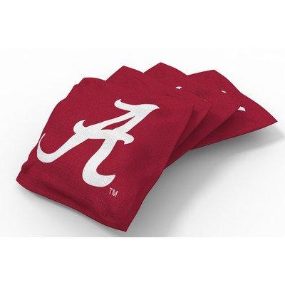 - Wild Sports NCAA College Alabama Crimson Tide Red Authentic Cornhole Bean Bag Set (4 Pack)