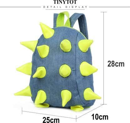 Tinytot Boys School Bag School Backpack for Small Kids Nursery Bag (Age 3-5 Years) for Boys (Green)