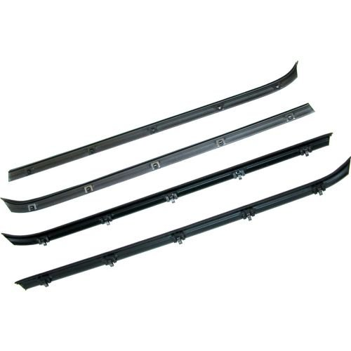 MAPM Left,Right Auto Glass Seals Belt Weatherstrip Kit; Inner & Outer Driver's & Passenger's Side FOR 1981-1991 GMC K2500