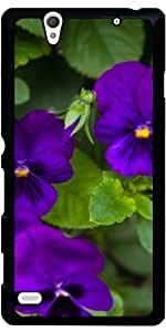 Funda para Sony Xperia C4 - Flores De Color Púrpura by loki1982
