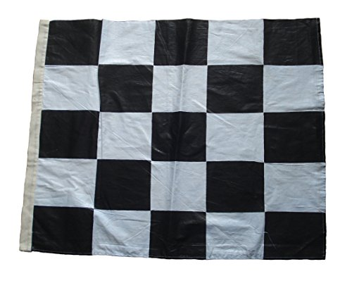 Brass Blessing Nascar Racing Flag - Black and White - 100% Cotton - 22