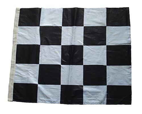 Nascar Racing Flag - Black and White - 100% COTTON - 22