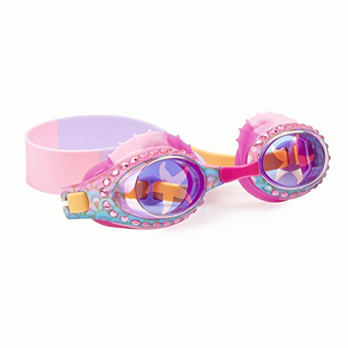 (Swimming Goggles For Kids by Bling2O - Anti Fog, No Leak, Non Slip and UV Protection - Pink Starfish Fun Water Accessory Includes Hard Case)