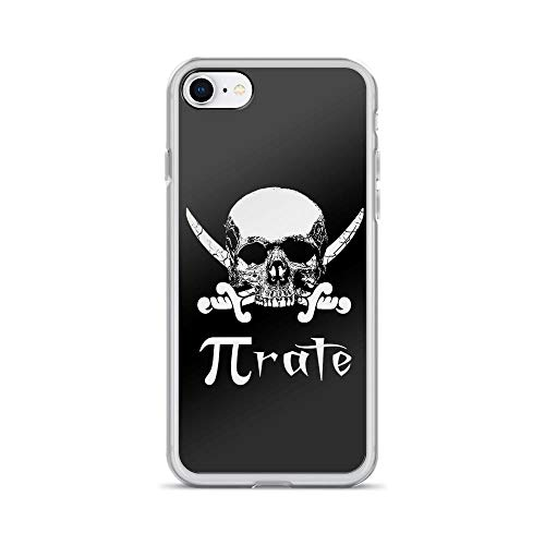 iPhone 7/8 Pure Clear Case Cases Cover Pirate Funny Pun Skull Graphic Mathematics Teacher Gift (Sheldon Cooper Best Number)