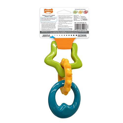 Large Product Image of Nylabone Puppy Chew Teething Rings Chew Toy