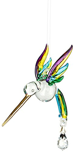 Woodstock Chimes CHPAS Rainbow Makers Crystal Suncatchers Fantasy Glass Hummingbird, Spring -