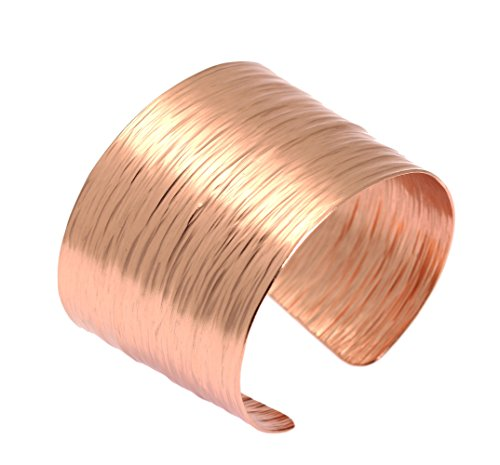- Copper Bark Cuff Bracelet by John S Brana Handmade Jewelry - 100% Uncoated Solid Copper (8.5 Inches)