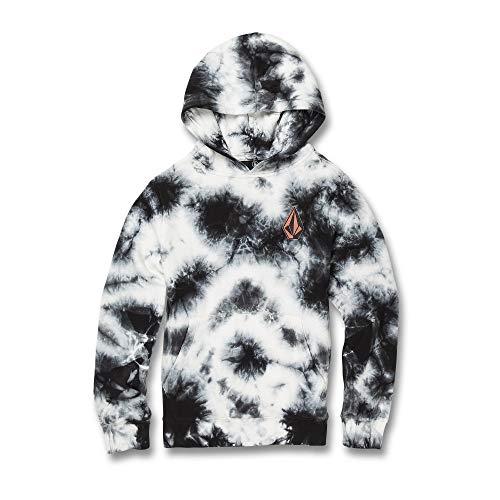 Volcom Big Boys Deadly Stones Pullover Hooded Sweatshirt, New Black Medium