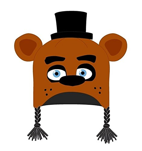 Five Nights At Freddy's Bear Costume (Five Nights at Freddy's Hat Animal Laplander Brown Bear Tuque Costume Acc. Blue)