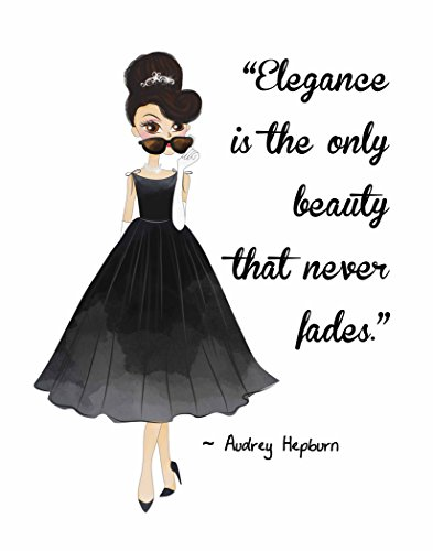 Pop Art Print ~ Audrey Hepburn Beauty/Fashion Quote: ELEGANCE... (8