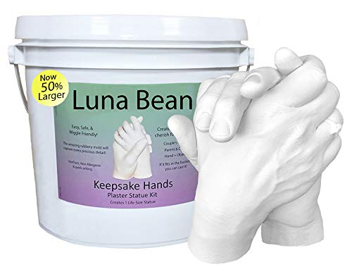 SAKE HANDS Plaster Statue COUPLES Molding & Casting Kit | Now 50% More Mold Making Materials and Larger Bucket ()