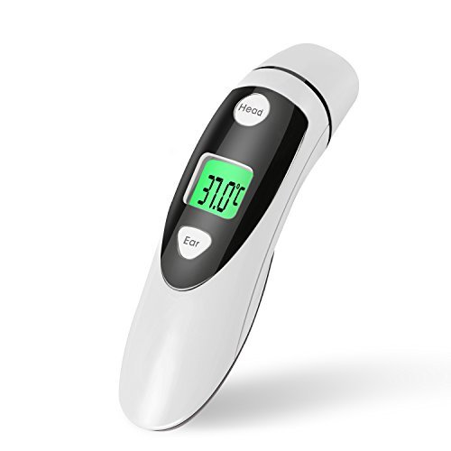Red Medical Forehead and Ear Thermometer Professional Digital Medical Thermometer Instant Read with Improved Accuracy for Baby & Adult - FDA Approved