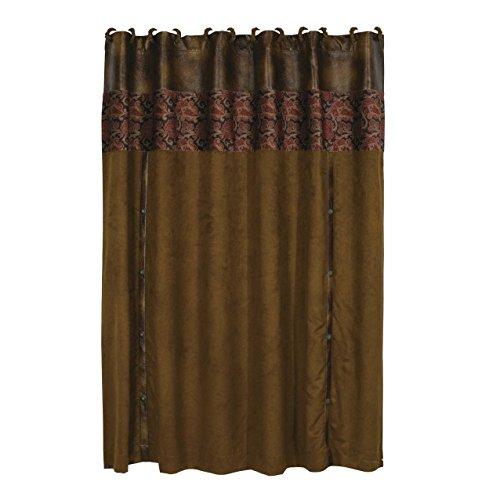 HiEnd Accents Austin Western Shower Curtain (Paisley Curtain Suede)