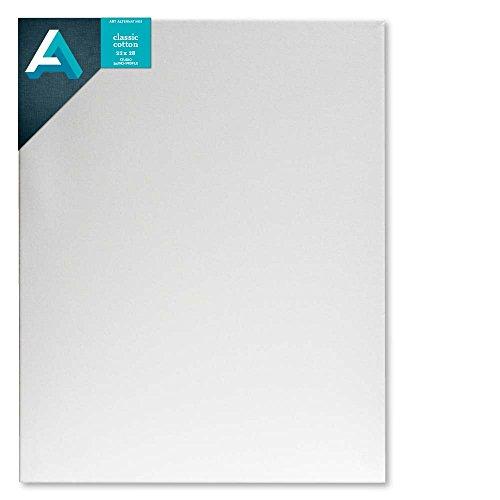 (Art Alternatives Studio Stretched Canvas,White,22x28 )