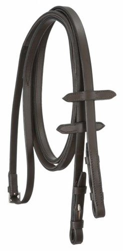 9530 Rubber - Silver Fox English Reins with Rubber Grip