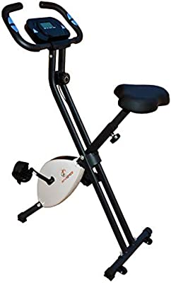 Bicicleta estática Fit-Force Regulable Plegable 8 Niveles de ...