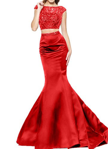 Abendkleider Langes Steine mit Charmant Rot Damen Kleider Meerjungfrau Etuikleider Jugendweihe Partykleider wHxq5tg5