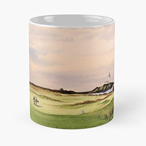 Golf Turnberry Course Scotland Hole 12 - Funny Coffee Mug, Gag Gift Poop Fun Mugs ()