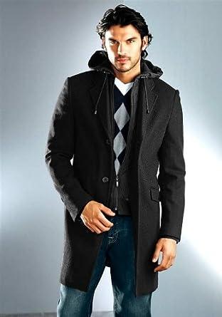 Marken Herren Mantel schwarz von Bruno Banani Gr. 52: Amazon