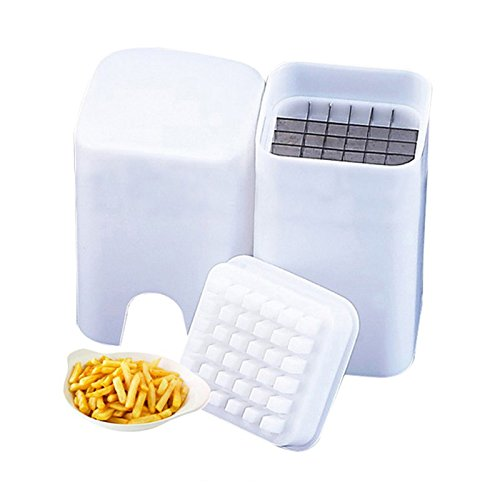 Tepathip Perfect Fries One Step French Fry Potato Cutter Chips Slicers Kitchen Accessories Gadget Cooking Tools - Waffle Fry Costume