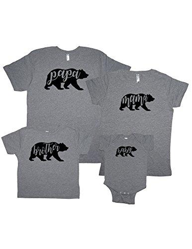 Sunshine Mountain Tees Matching Family Shirts Mama Bear Papa Brother Sister Baby Tshirts