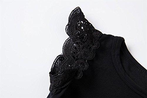 Yatong Baby Girls Bodysuit Onesies Baby Romper (18-24 Months, Black)