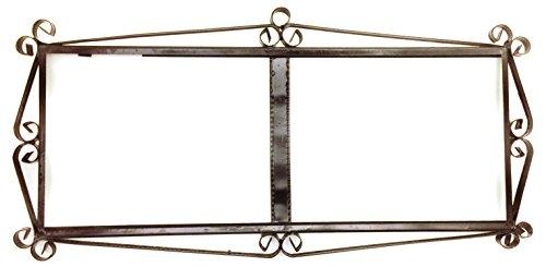Black iron frame for easy wall hanging for tiles ARCO GRANDE design (Frame for 5 TILES) 16.73 '' x 8.07 ''