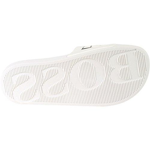 Hugo Boss Mens Solar Slide Sandaal Wit