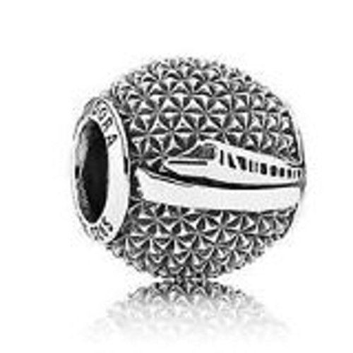 Disney Pandora Parks Exclusive Epcot Spaceship Earth Monorail Bead Charm