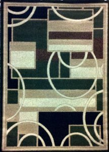 Modern Area Rug 5 Ft. 2 In. X 7 Ft. 3 In. Green #115