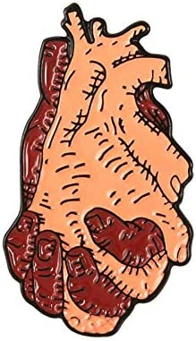19style解剖心臓エナメルピン医療解剖学ブローチ心臓神経学ピン用医師とナースラペルピンバッグバッジギフト