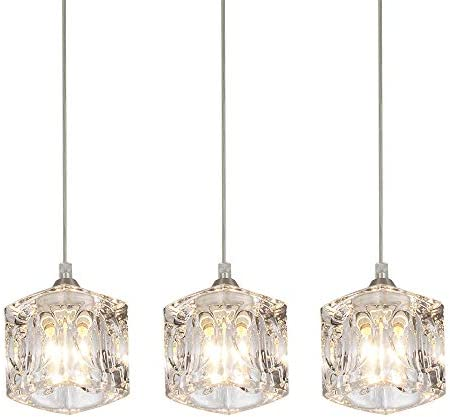 COTULIN Set of 3 Modern Cute Mini Crystal Pendant Light,Pendant Lighting Fixture for Living Room Dining Room Bedroom