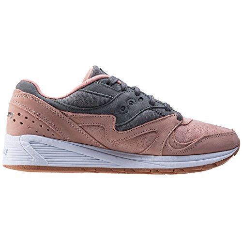 Saucony Salmon/Charcoal Grid 8000 Zapatillas