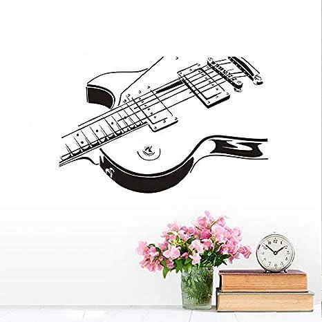 Guitarra eléctrica DIY pegatinas de pared para la decoracion de la habitacion de niños hueco diseño