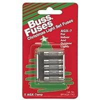 Cooper Bussmann BP-AGX-7X5 XMAS Fuse (5 Pack), 7 Amp by Cooper Bussmann