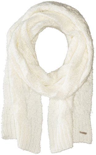 Calvin Klein Women's Fuzzy Cable Scarf, Cream, One Size