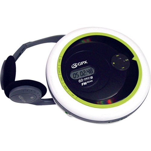 - GPX Personal CD Player with Digital Fm Scan Radio and 60-Second Asp