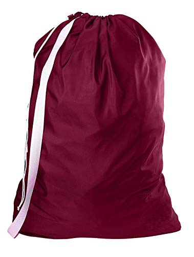 (Nylon Laundry Bag with Reliable Shoulder Strap - 30