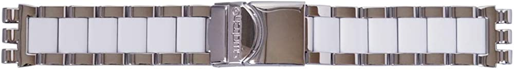 Swatch Irony Secret Thought White AYCS552G - Pulsera con cronógrafo (19 mm), Color Blanco