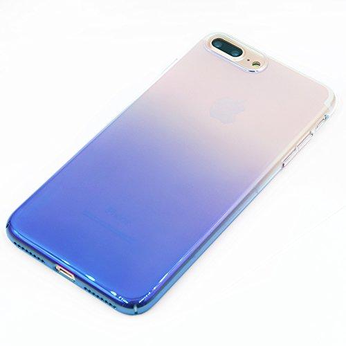 iphone-7-plus-case-protective-cover-glaze-case-2017-release-transparent-blue