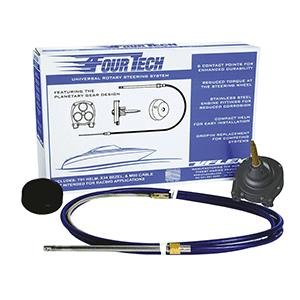 UFlex USA Uflex Fourtech 10' Mach Rotary Steering System W/helm, Bezel & Cable Cable Length (Feet) = NONE