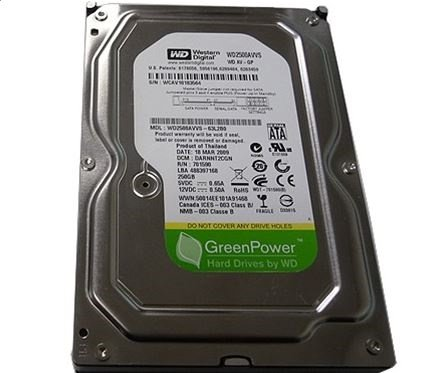 Western Digital AV-GP 250GB SATA/300 5400RPM 8MB Hard Drive ()