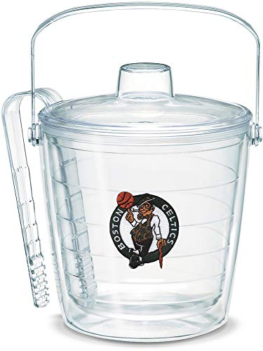 Tervis 1052252 NBA Boston Celtics Primary Logo Ice Bucket with Emblem and Clear Lid 87oz Ice Bucket, Clear