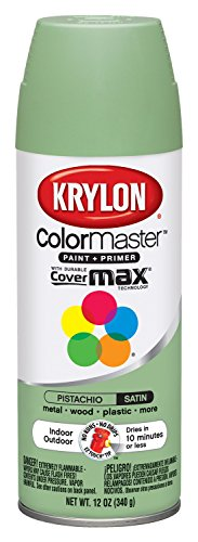 Satin Finish Aerosol Paint - Krylon K05356307 ColorMaster Paint + Primer, Satin, Pistachio, 12 oz.