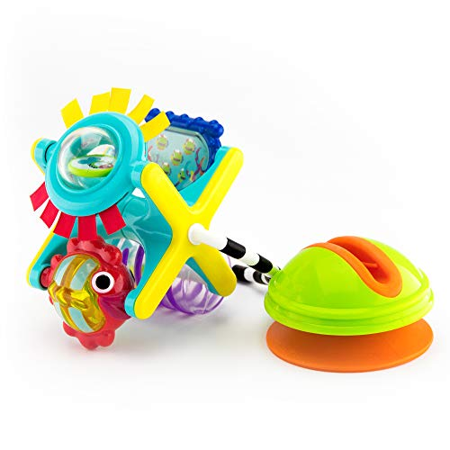 Sassy Fishy Fascination Station 2-in-1 Suction Cup High Chair Toy | Developmental Tray Toy for Early Learning | for Ages 6 Months and Up