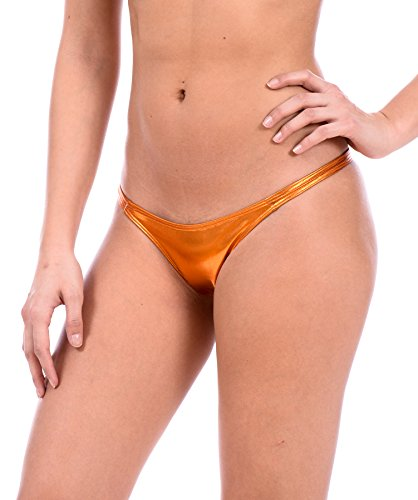 Sexy Mini Brazilian Bikini Thong Swimsuit Bottom by Gary Majdell (Liquid Copper, Small)