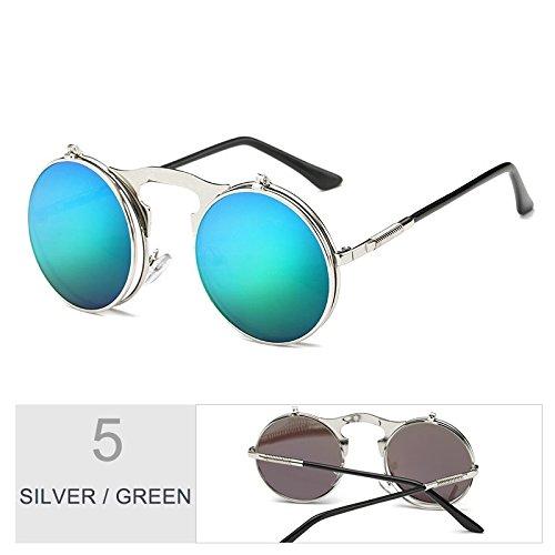 Green Para Sol Gafas Gris De Mujer Hombre Gafas Mesas Unisex Plegables TIANLIANG04 Conducción Silver Plata wRz6Eq6